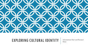 exploring cultural identity ppt video online  exploring cultural identity