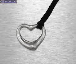 s l1600 s l1600 tiffany co elsa peretti 925 sterling diamond open heart pendant necklace tiffany