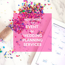 Beautiful Party Planning Companies Agreement For Event Or Wedding