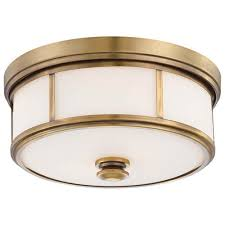 Harbour Point Liberty Gold Two Light Flush Mount