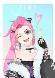 So pretty jinx art #jinx #leagueoflegends #art   Personagens de anime,  Desenhos radicais, League of legends