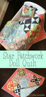 148 best Doll Quilts & Doll Quilt Tutorials, Video's, Patterns ... & Free tutorial for a Star Patchwork Doll Quilt made with a combination of  solid and print scraps. Includes an easy way to make half square triangles  and a ... Adamdwight.com