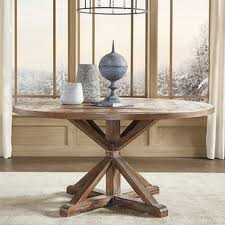 11 round wood dining room tables benchwright rustic x base round pine wood dining table by