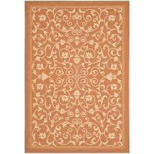 safavieh courtyard persian terracotta natural indoor outdoor rug cy2098 3202