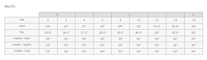 Tommy Hilfiger Skirt Size Chart 21 Comprehensive Inc Jeans Size Chart