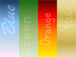 Orange Blue Green Orange Gold Green Blue Your True Colors Yes Thats You