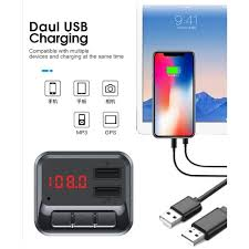 <b>C6 Car Charger Dual</b> USB MP3 Transmitter Multifunction Bluetooth ...