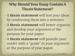 what is a thesis statement ppt video online why should your essay contain a thesis statement