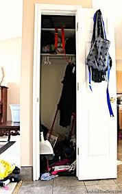 coat closet turned pretty canning second pantry coat closet phase 1 gutting patching baskets shelves life should cost less