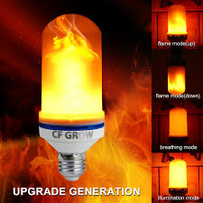 Light Bulbs That Look Like Fire Us 4 98 44 Off Cf Grow 1 4 Modes E26 E27 Led Flame Effect Fire Light Bulb Smd2835 Flickering Flame Lamp 6w 9w 1200k 1400k Ac85v 265v Lamps In Led