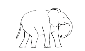 Cute Baby Elephant Coloring Page Of Kawaii 0 Betterfor