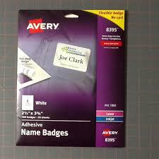 Avery 8395 Adhesive Name Badges Nib 160 Badges Nwt