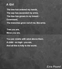 a girl poem by ezra pound poem hunter