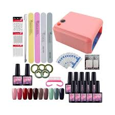 gel polish nail art tools manicure set of uv led lamp 40 color uv gel nail polish art tools nail set kit gel nail polish set diy color kit 1