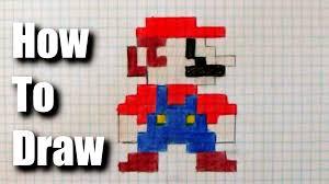 How To Draw 8 Bit Mario Youtube