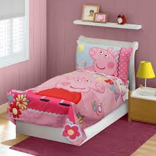 peppa pig toddlers adorable 4 pc bedding set