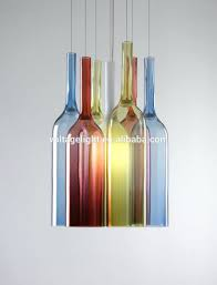 50 types lovable colored glass chandelier drops decorative colorful bottle hanging pendant lights for bar multi blown contemporary chandeliers coloured