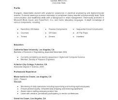 Biodata Format For Internship Best Resume Templates