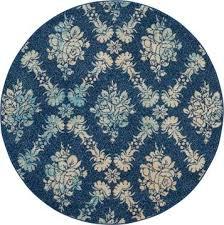 nourison tranquil blue round 5 3 x 5 3 area rug 805
