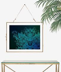 surreal photography teal wall art tree