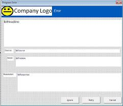 company error form