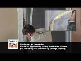 how to switch storm door glass or insect screen retainer andersen windows