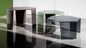 <b>3</b> FEET | Glass design hexagonal <b>coffee table</b> - SOVET
