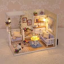handmade dolls house furniture. 2017 Handmade Doll House Furniture Miniatura Diy Houses Miniature Dollhouse Wooden Toys For Children Grownups Dolls R