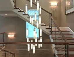 entryway hanging lights staircase gorgeous carpet stair treads in contemporary with living room g59