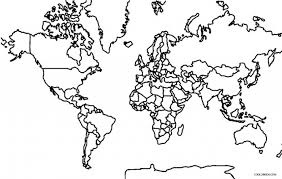 Small Picture Printable World Map Coloring Page For Kids Cool2Bkids in World