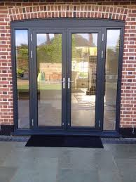 grey aluminium french patio doors 235cm x 235cm approx reduced to 300