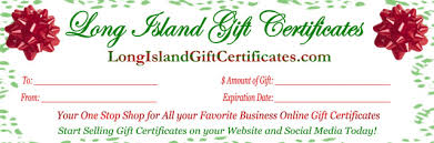 Gift Certificates For Your Business Welcome To Long Island Gift Certificates Your One Stop Shop For