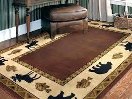 rustic cabin area rugs impressive log style lodge runner