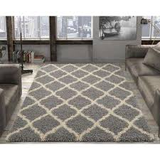 ultimate gy contemporary moroccan trellis design grey 5 ft x 7 ft area rug