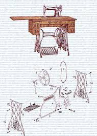 Antique Singer Sewing Machine Parts Diagram