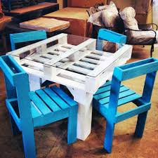 pallet furniture projects. #10 Wooden Pallets Dinning Set For Kids Pallet Furniture Projects