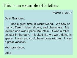 This is an example of a letter