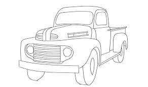 line drawing old ford pickup truck - Google Search | Embroidery ...