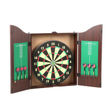 Dart Board Cabinet With Chalkboard Trademark Games Tgt 10 Piece Dartboard Cabinet Set In Realistic