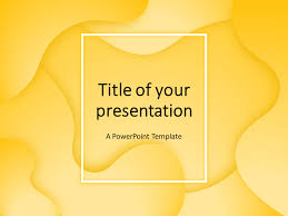 Powerpoint Backgrounds Yellow Fluids Powerpoint Template Yellow Presentationgo Com