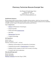 Pharmacy Technician Resume Sample No Experience Resume Papers