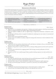 Sample Resume Mechanical Engineer Impressive Resume Samples Experienced Mechanical Engineers With Bunch Ideas Of