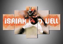 on cleveland browns canvas wall art with cleveland browns isaiah crowell 5 piece canvas wall art mystorify