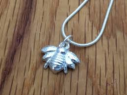 silver ble bee pendant honey bee necklace honey bee ble bee pendant necklace ble bee necklace silver ble bee silver bee
