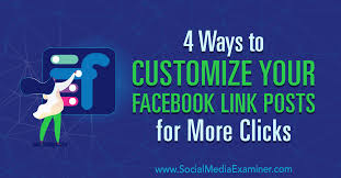 Link By Design 4 Ways To Customize Your Facebook Link Posts For More Clicks