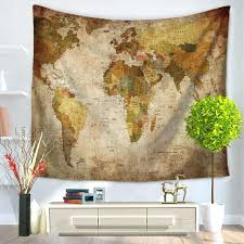 world map wall hanging world map pattern tapestry hanging polyester fabric wall decor vintage retro style on antique cloth wall art with world map wall hanging world map pattern tapestry hanging polyester