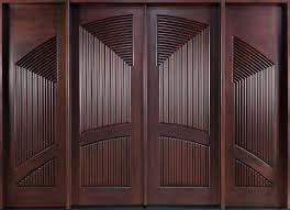 modern wooden door designs for houses. Mahogany Solid Wood Front Entry Door - Double With 2 Sidelites Modern Wooden Designs For Houses O