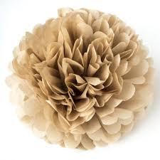 Tissue Paper Pom Poms Flower Balls Tissue Paper Pom Poms Flower Ball 2 Sizes Brown