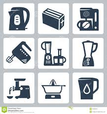 Of Kitchen Appliances Kitchen Appliances Vector Silhouette Icon Set Stock Vector Image