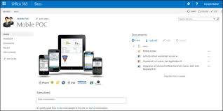 sharepoint online templates working with sharepoint 2013 online sites on mobile devices